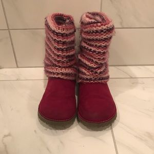 Girls sweater boots size 12